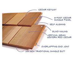 Best 18 1 R And R Combed Cedar Siding Shingle Exterior 400 x 300