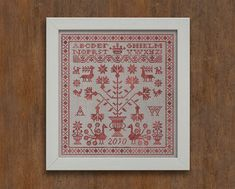 4 Sampler Patterns Letters from the North 1 2 3 & 4 by modernfolk
