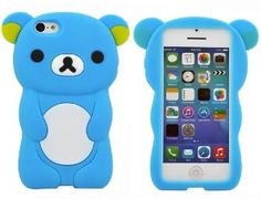 Amazon.com: BYG Light Blue Cute Disney 3D Rilakkuma Demountable Silicone Soft Case for iPhone 5C + Gift 1pcs Phone Radiation Protection Sticker: Cell Phones & Accessories