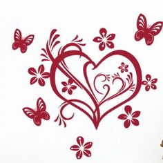 Style and Apply Valentine Heart Wall Decal