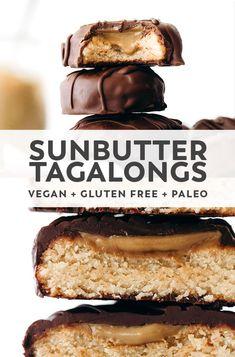Paleo Dessert, Healthy Dessert Recipes, Healthy Treats, Baking Recipes, Cookie Recipes, Vegan Recipes, Vegan Sweets, Vegan Snacks, Paleo Cookies