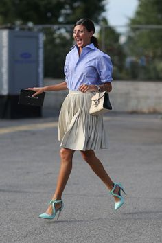 Giovanna Battaglia New York Street Style Fashion Week Spring 2014 - New York Fashion Week Spring 2014 - Harper's BAZAAR