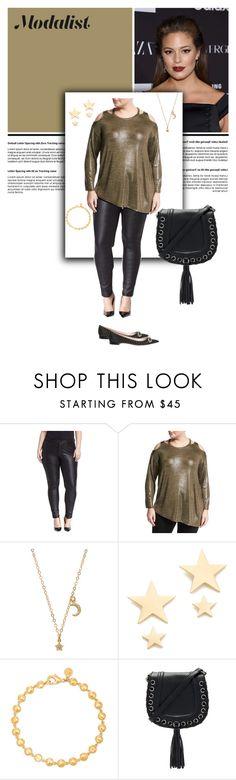 """Plus Size Fashion"" by modalist ❤ liked on Polyvore featuring Ashley Graham, Mynt 1792, Gjenmi, Amber Sceats, Gorjana, BCBGeneration and Rochas"