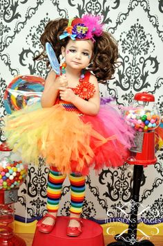 Toddler girls clown tutu costume 2T 3T 4T petti tutu top hat necklace legwarmers flower clip and more complete set