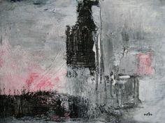 Collage, Gouache mit Tusche, 30x25 in Passepartout