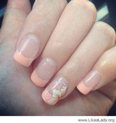 Wonderful french nails with orange