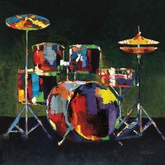 Drum Set Print by Elli & John Milan at Art.com