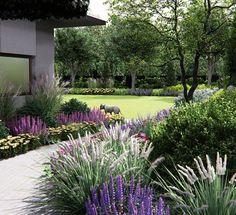 59 Ideas Landscape Garden Design Back Yards Outdoor Spaces Landscaping A Slope, Landscaping With Rocks, Modern Landscaping, Landscaping Ideas, Landscape Design, Garden Design, Country Cottage Garden, Sloped Garden, Dream Garden
