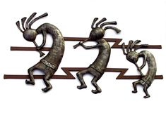 'Kokopelli Wall Relief Sculpture'. By Dimitri Gerakaris. Hand-forged Iron. 2000