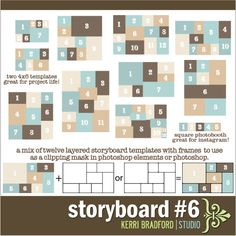 Storyboard 6 with tutorial-Adobe Photoshop collage.great freebies too Photoshop Collage Template, Photo Collage Template, Photoshop Design, Photoshop Tips, Photoshop Tutorial, Image Layout, Indesign Templates, Storyboard, Project Life