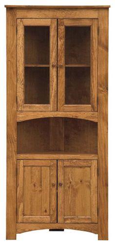 Four door corner cabinet