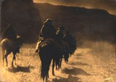 """Vanishing Race"" Phptographed by Edward S. Curtis."
