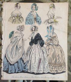 "Antique fashion print 1840 from the ""World of fashion magazine"" | eBay"