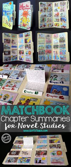 Chapter Summaries for Novel Studies Got to Teach!: Matchbook Chapter Summaries for Novel StudiesGot to Teach!: Matchbook Chapter Summaries for Novel Studies Reading Projects, Reading Lessons, Book Projects, Reading Strategies, Reading Activities, Teaching Reading, Reading Comprehension, Fun Projects, Learning