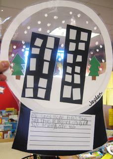 First Grade Wow: Snow Globes - love this idea - assemble, write, laminate
