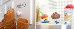 Eis Greissler Gelateria - Helados de diseño, tres locales de lo más cool. Cool, Breakfast, Ice Cream Design, Around The Worlds, Restaurants, Vienna, Spaces, Ice, Morning Coffee
