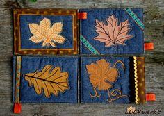 LOCKwerkE: STOFFKARTENTAUSCH Herbstblätter Painting, Fall Leaves, Cards, Painting Art, Paintings, Painted Canvas, Drawings