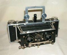 USED Antique Isogurafu 6 × 13 stereo camera roll film used