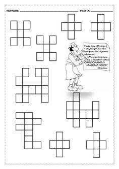 Crucigramas matemáticos para rellenar (dependiendo del nivel del alumnado).