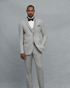 Jos. A. Bank Notch Lapel Gray Tuxedo Wedding Tuxedos + Suit photo