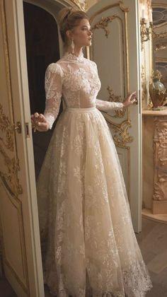Galit Robinik 2019 Wedding Dresses - Wedding Dresses #bridalgown #weddinggown #w... Top Wedding Dresses, Wedding Dress Trends, Princess Wedding Dresses, Bridal Dresses, Wedding Gowns, Wedding Ideas, Lace Wedding, Modest Wedding, Muslim Wedding Dresses