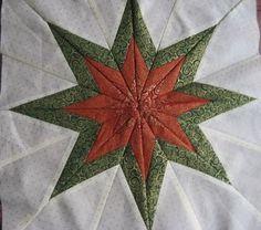 CSOKI - FOLT: Karácsonyi csillag 22,5 fokos sablonnal