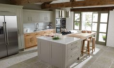 Classic Kitchens from Second Nature Collection. A fantastic range of top quality designed classic kitchens. Inframe Kitchen, Grey Kitchen Floor, Kitchen Units, Kitchen Paint, Kitchen Cupboards, Kitchen Flooring, Shaker Kitchen, Inset Cabinets, Faucet Kitchen