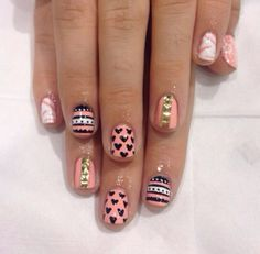 WAH nails. love the colours and the random designs