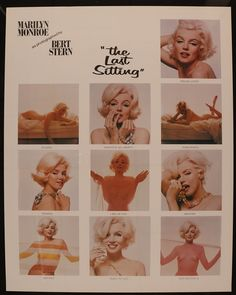 """Lot Detail - Bert Stern 22 ½"""" x 28 ½"""" """"Marilyn Monroe: The Last Sitting"""" Poster Marilyn Monroe Poster, Norma Jean Marilyn Monroe, Marilyn Monroe Life, Bert Stern, Clive James, Hollywood Heroines, Photograph Album, Classic Hollywood, Black And White"""