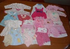 Huge Infant Girls Spring Summer Clothing Lot sz 0-3, 3-6, 6-9 mos New and Used  #mix http://stores.ebay.com/donna34341?_trksid=p2047675.l2563
