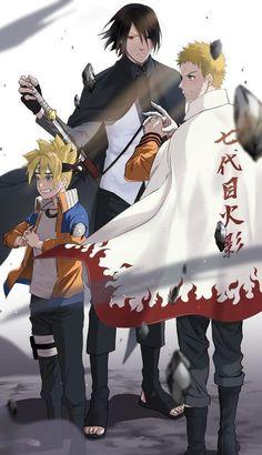Boruto, Sasuke et Naruto Naruto Vs Sasuke, Naruto And Sasuke Wallpaper, Naruto Teams, Naruto Fan Art, Naruto Sasuke Sakura, Wallpaper Naruto Shippuden, Naruto Cute, Uzumaki Boruto, Naruto Shippuden Anime