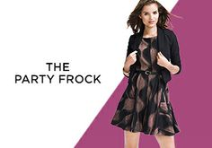 The Party Frock: Fit & Flare Dresses -   Nipped-in waist, full skirt…what's not to love? Aside from being chic and ladylike, fit-and-flare dresses are extremely flattering, offering a forgiving—yet feminine—silhouette. Plus it's more than a little bit flirty, making it just the right option for party-going. Go for a stand...  #Baker, #Belt, #Cap, #Dress, #Separate, #Sweater, #Tie, #ZipClosure