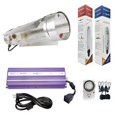 Hydroplanet 1000w Air Cooled Tube Hood Set Horticulture Hydroponic 1000W 600W 400W Watt Grow Light Digital Dimmable ballast System for Plants 1000W