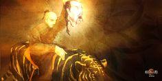 La tête du général Kefu est apportée en offrande par un Liang-nen aux Dames du Peuple d'Illyd #heroicfantasy #epicfantasy