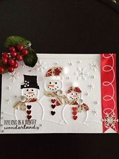 Christmas Embossing Folder Snowman Family