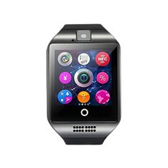 KINUT Q18 Passometer Smart Watch With Touch Screen Camera TF Bluetooth for Android ios Phone Black. Function call: GSM / GPRS 850/900/1800/1900 four-frequency talk, Dial, hands-free, phone records, phone book, Bluetooth phone. SMS Local SMS: Text messaging on cell phones Synchronous boost by bluetooth (for android mobile phone). Entertainment: MP3 ,; Bluetooth music playback; Remembering phone calls; Ring and vibration remind. Watch display: 3 ways to display the clock display, free…