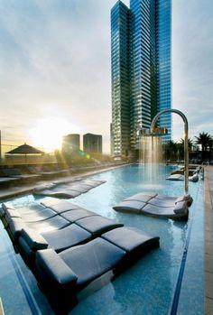 The Bamboo Pool at the Cosmopolitan of Las Vegas.