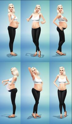 """randomchick32: """" """"Baby On The Way"""" posepack! Here is some new poses for pregnant sims. They work best with 3rd trimester. Enjoy! Download as a posepack or clumsy trait for CAS You need Andrews pose..."""