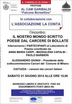 Milano 21/6/14: Poesie dal carcere di Bollate