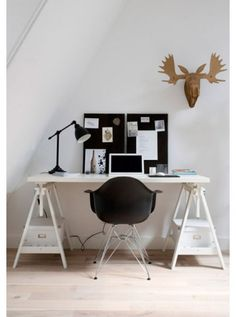 work space -- Ikea Desk.  It can be moved up to be a standing desk also, great for craft projects!
