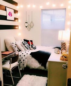 A dorm room that looks like a hotel room is what we need in our lives. Shop dormify.com to create yours.