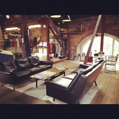 The new Nudie showroom in London. Yes, we love denim so much we'd live in the Nudie show room, wouldn't you?