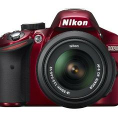 Nikon in RED HD-SLR camera with a DX-Format CMOS sensor, 4 fps continuous shooting and full HD video including a VR lens Nikon D3200, Dslr Nikon, Cameras Nikon, Dslr Camera Bag, Camera Case, Camera Gear, Photoshop Elements, Photoshop Actions, Wi Fi