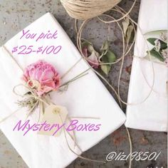 Mystery Box Time for Mystery Boxes!  I'm so excited to style for you!  You will receive a mix  New/used items  Box size varies per $$$ Pick your price! $25-$100 Let me know your interested and I will create a personal box just for you! (Allow up to 3 days to ship) I will need: Your size (#&letter)  Favorite color Favorite accessories(scarves, rings etc)  Shoe size  Make up preference (skin tones etc)  Hair maintenance routine  Take a chance! You will NOT be disappointed! Swim One Pieces