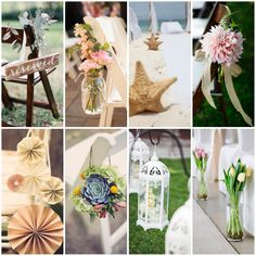 The aisle is one of the most important places to decorate. It's the first thing your guests will see, it's where you will walk towards the love of your life and where you will walk again as a married woman. Here are a bunch of super creative ideas, from beach, to garden, to barn to