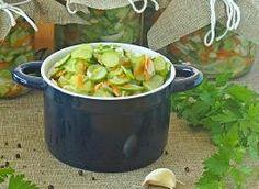 Sałatka szwedzka z ogórków na zimę - przepis ze Smaker.pl Moscow Mule Mugs, Sprouts, Potato Salad, Salads, Curry, Food And Drink, Potatoes, Fresh, Canning