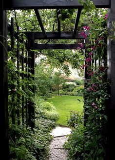 Going through an arbour, the reveal of what's on the other side