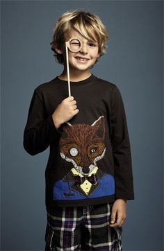 Mini Boden 'Winter Animal' T-Shirt (Little Boys & Big Boys) | Nordstrom