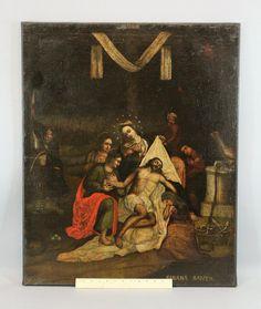 18c Antique Spanish Old Master Jesus Oil Painting Shroud of Turin Sabana Santa | eBay
