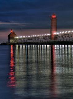 Lighthouse & Pier; Grand Haven, Michigan